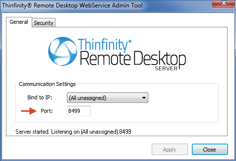 Thinfinity Remote Desktop WebService Admin Tool