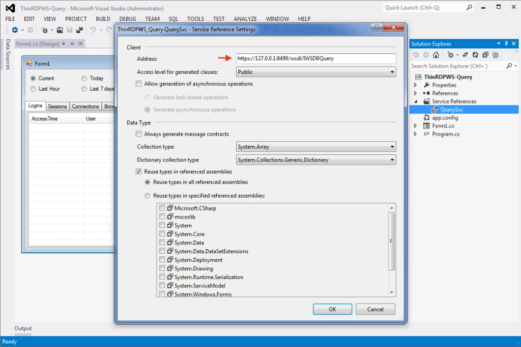 Thinfinity Remote Desktop WebServices  - Editing the web service settings