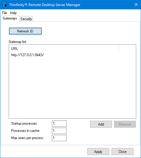 First, open the Thinfinity Remote Desktop Server Manager.