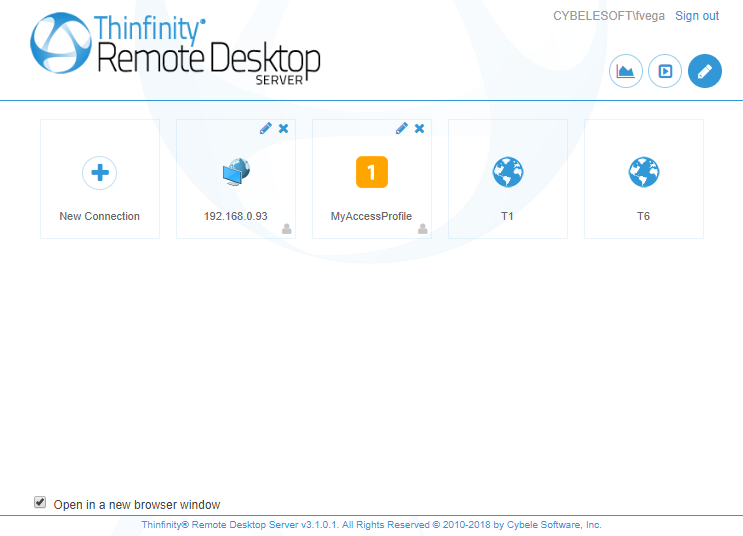 Conection Manager Thinfinity Remote Desktop Server