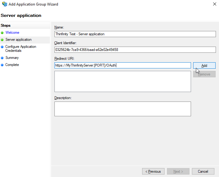 How to configure Thinfinity products with AD FS and OAuth 2.0.