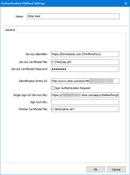 Configure Okta SAML for Thinfinity Remote Desktop Server and Thinfinity VirtualUI.