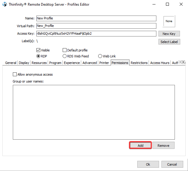 How to limit user access to remote resources with permissions