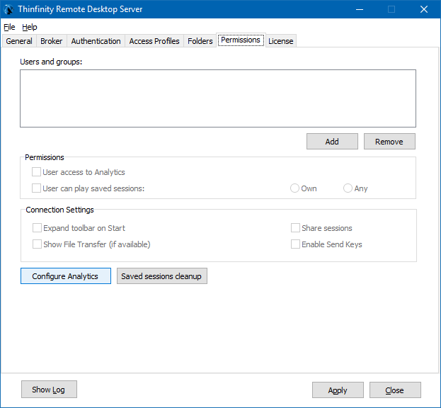 Now, click the 'Configure Analytics' button located below the 'Connection Settings' section:
