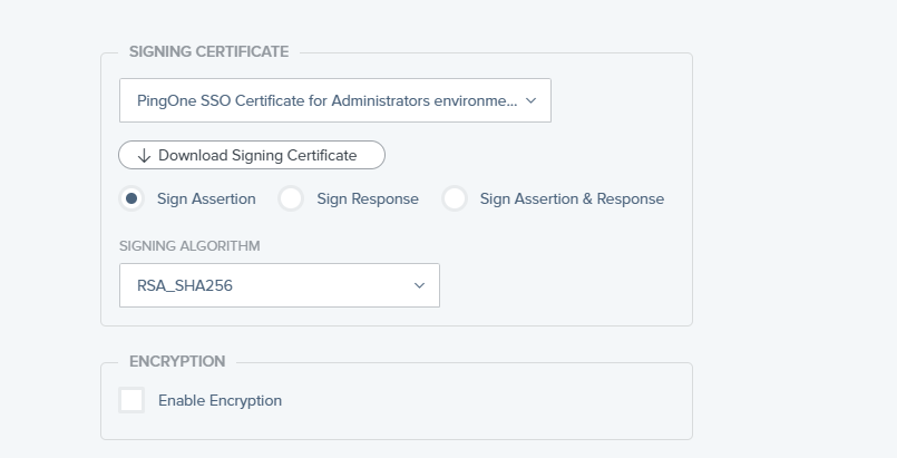 Below the ACS URL you will be able to download the signin certificate. Download this and store it somewhere in your Thinfinity Remote Desktop server: