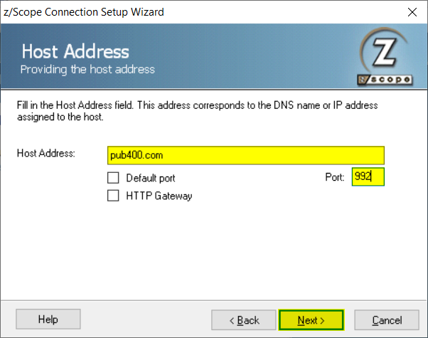 How to create a new connection in zScope Classic - 05