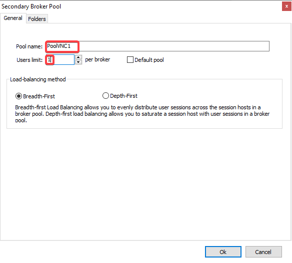 How to Create a VNC Connection using Thinfinity Secondary Pools Feature - 10