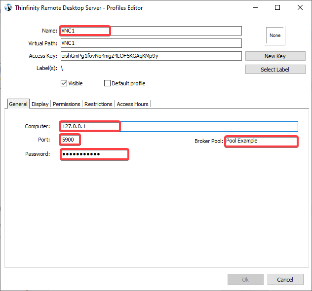 How to Create a VNC Connection using Thinfinity Secondary Pools Feature - 12