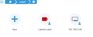How to create labels on Thinfinity Remote Desktop - 06