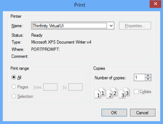 How to set up the Remote Printer functionality for VirtualUI 3.0 - 01